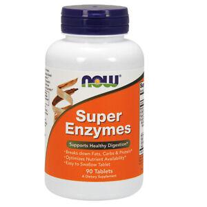 Now Foods enzimi Super, 90 compresse, supporta una sana digestione
