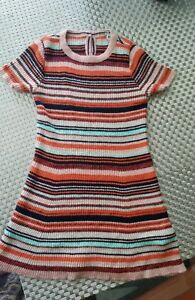 Next-multi-coloured-short-sleeve-girls-dress-age-12-18-months-old