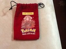 Pokemon Soft Dark Red Marble GOLEM Bag Vintage Collectible Original 151 Series