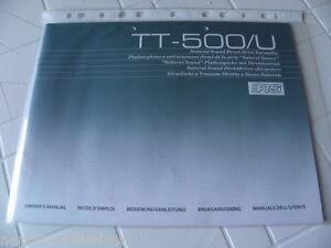 Yamaha-TT-500-U-De-propietario-Manual-Operating-Instruccion-New