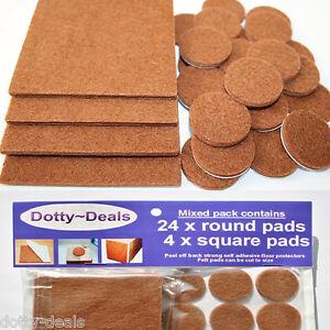 Wood-Floor-Furniture-Protector-Felt-Pads-Laminate-Vinyl-Tile-Oak-Parquet-Lino