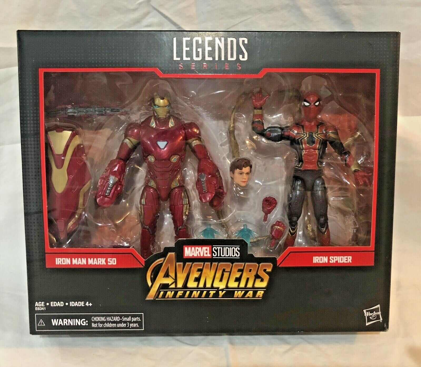 SDCC 2019 Hasbro  Marvel Legends - Avengers Iron Man & Iron Spider 2-Pack, NEW