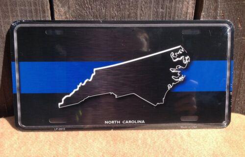 North Carolina Thin Blue Line Wholesale Metal Novelty Wall Decor License Plate