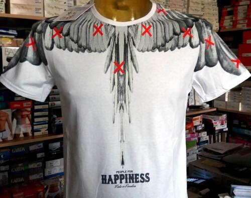 T-Shirt Herren Happiness kurze Ärmel Reine Baumwolle mit Druck Flügel art 4800