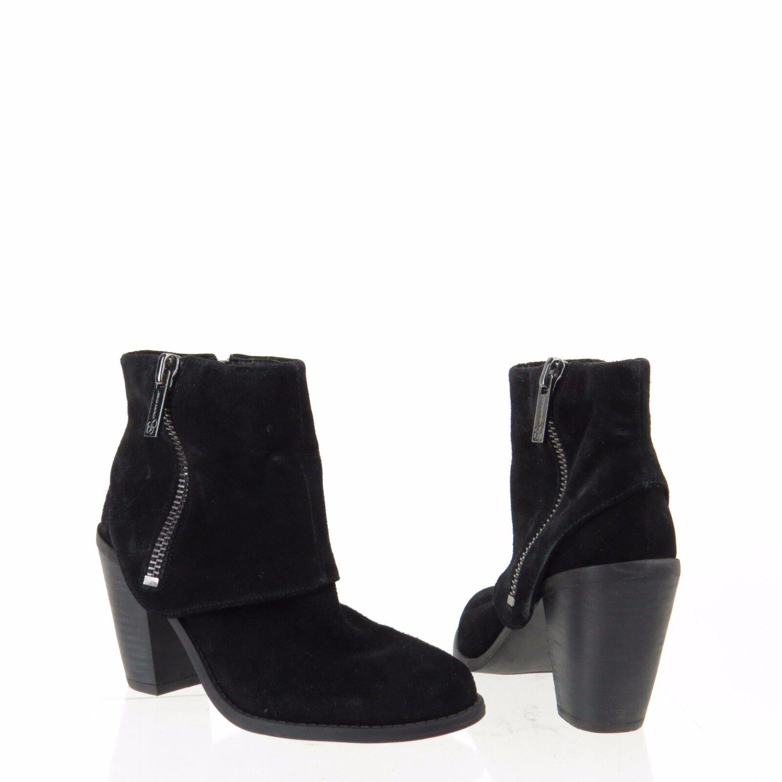 Womens Jessica Simpson Caufield Shoes Black Suede Round Toe Ankle Boots Sz 5.5 M