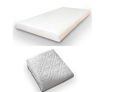 Moses Basket Mattress Cushy Anti Allergic //Quilted //Waterproof 74 X 25 X 3.5cm