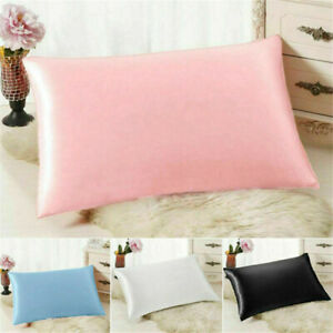 Soft-Pure-Mulberry-Silk-Pillowcase-6-colors-Luxury-Pillow-Case-Bedding-Decor-Hot