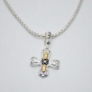 Premier-designs-woman-jewelry-silver-plated-gold-cross-pendant-necklace-chain