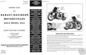 harley davidson wla military motorcycle parts service manual ww2 rh ebay ie Navy Archives Military Records Nara Military Records