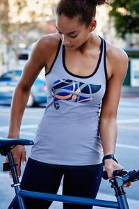 FABLETICS-Women-039-s-EIFFEL-Logo-Racerback-Tank-Top-Gray-Size-MEDIUM-NWT