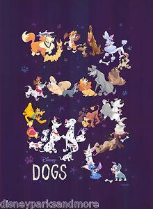 Disney-WonderGround-Gallery-DISNEY-DOGS-Deluxe-Print-by-Bill-Robinson-NEW