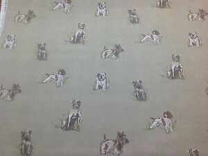 New Fryett S Cotton Pooch Dog Print Fabric For Curtain Upholstery