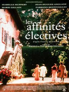 Affiche-40x60cm-LES-AFFINITES-ELECTIVES-1997-Isabelle-Huppert-Bentivoglio-TBE
