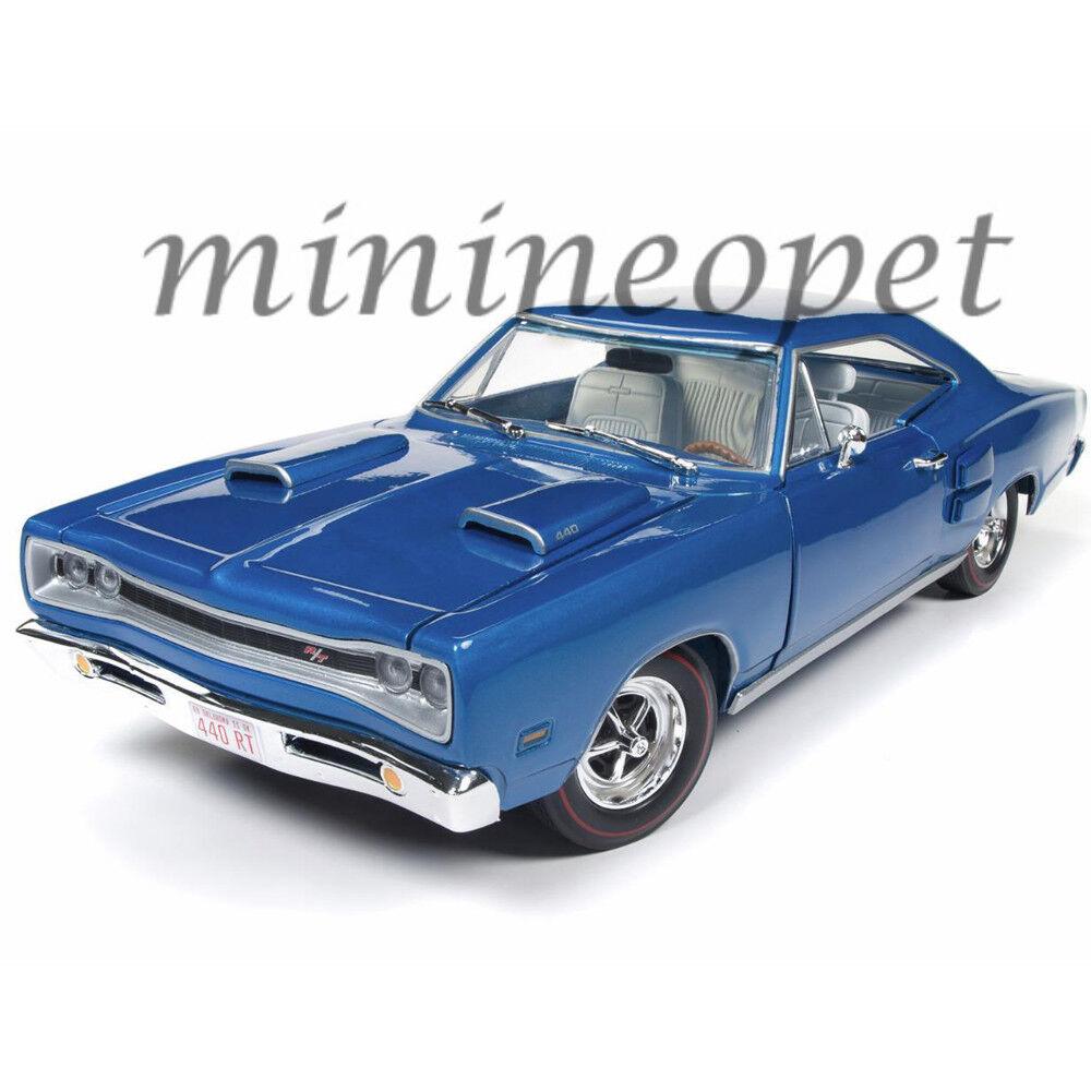 Autoworld AMM1116 1969 Dodge Coronet R t 1 18 Diecast 50TH Aniversario blu