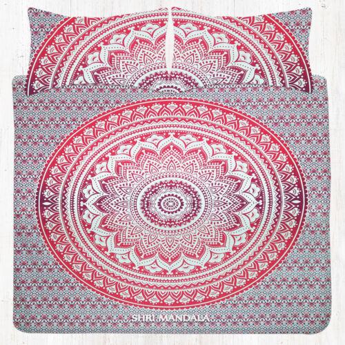 Indian Mandala Flat Bedsheet Tapestry Bedding Bed Set Bohemian KING Bedspread