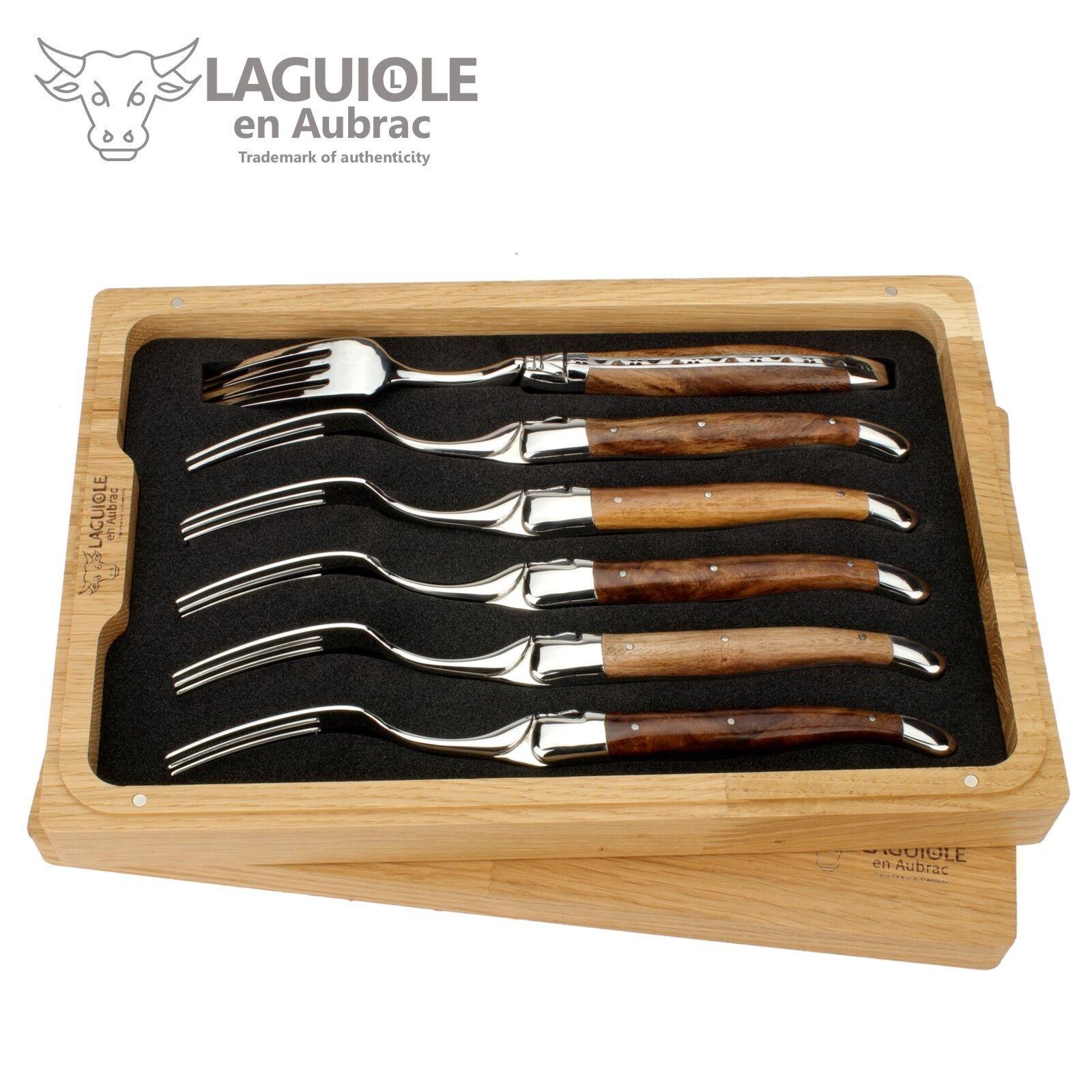 Laguiole en Aubrac - 6 Laguiole fourchettes-Vieille Vigne-Convient pour couteau à viande