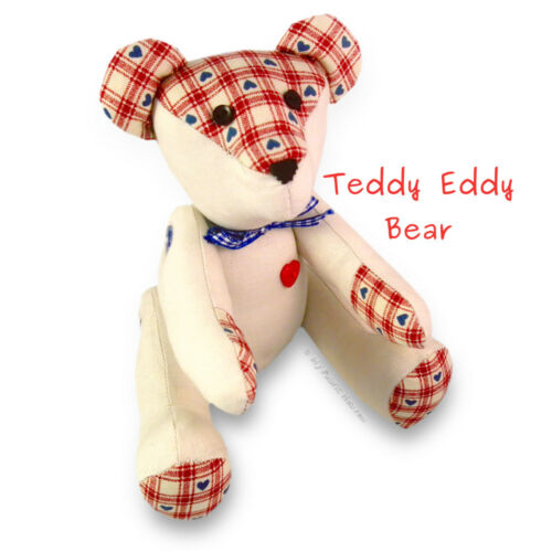 4 X Soft Toy Sewing PATTERNS Teddy Bear//Rag Doll//Mouse//Bunny Rabbit EASY Instruc