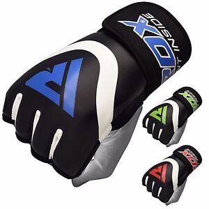 RDX-Gants-MMA-Cuir-Boxe-Entrainement-Bandes-De-Mains-Martiaux-Sac-De-Frappe
