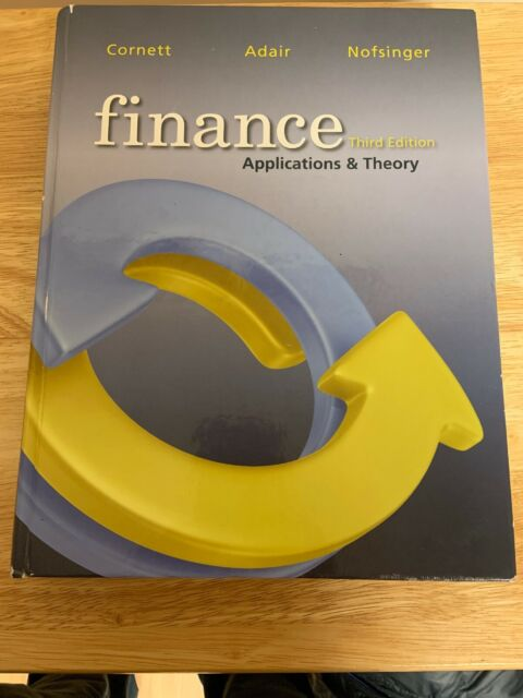 finance   applications and theory by john nofsinger  troy