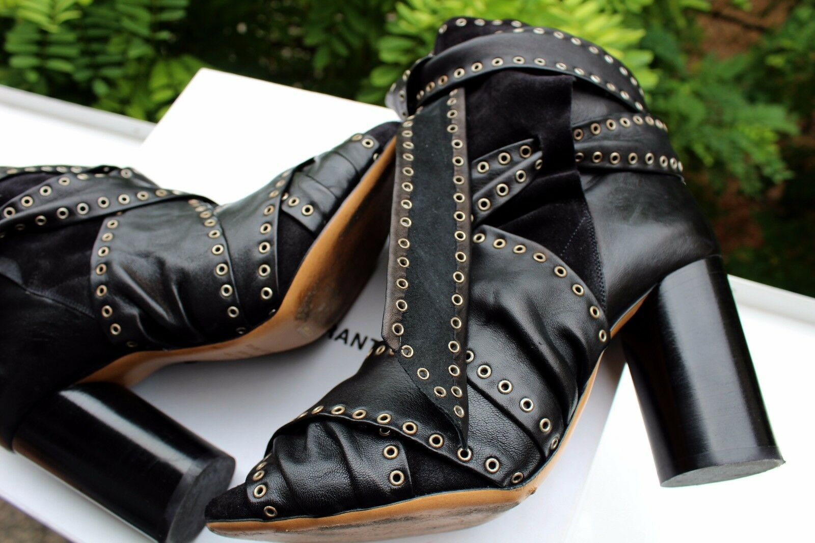 ISABEL MARANT Aubrey Leather Ankle Boots Black in BOX