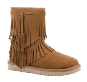 290654d3b40 Details about Koolaburra by UGG 1015897 Ankle Cable Winter Boots Woman US 6  Chestnut NEW $95