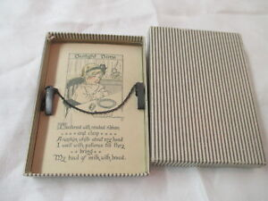 Details About Vintage Napkin Clip For Child With Eunice Hussey Poem Twilight Time Original Box