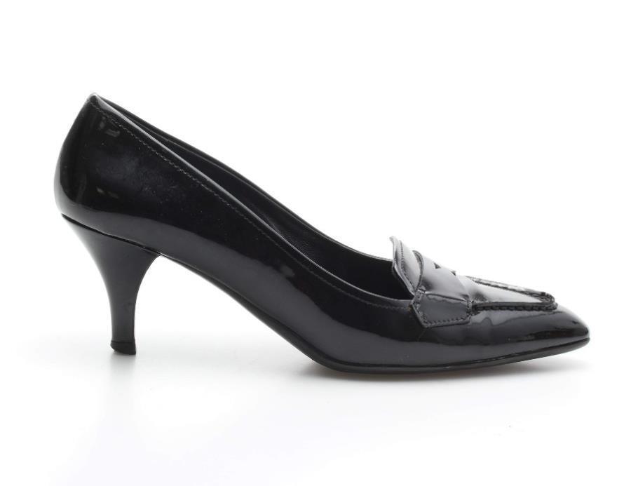zapatos  De Tacón Alto MujerpradaClásico Negro Patente Mocasín 35.5 Cuero zapatos  De Salón 5 35.5 Mocasín a6eed6