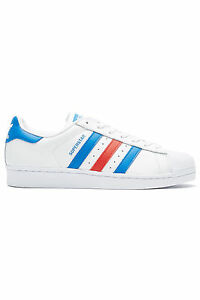 New-ADIDAS-Womens-Superstar-White-Red-Blue