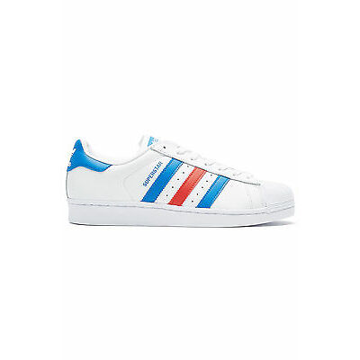 New ADIDAS Womens Superstar White/Red/Blue
