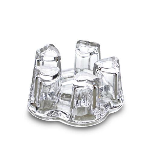 1pc résistant à la Chaleur Verre Cristal régulier du Pentagone Handmade clear Tea Pot Warmer