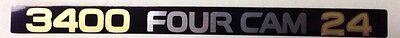"""TOYOTA """"3400 FOUR CAM 24"""" (5VZ-FE) Engine Name Sticker / Decal OEM GENUINE (NEW)"""