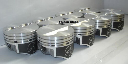 """Speed Pro Chevy 350 Hypereutectic Coated Flat Top 2VR Pistons Set//8 9.7:1 .030/"""""""