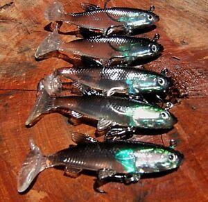 x 5 Vibe lure soft plastics 80mm Jewfish Lure Flathead Lure Bream Lure Snapper
