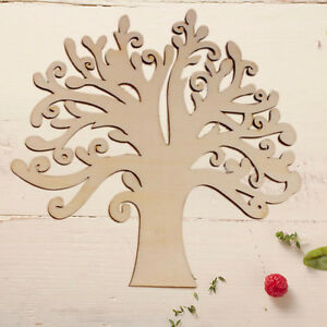 wooden tree shape blank family tree wedding guestbook diy crafts