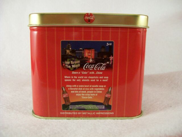 1996 METALLIC IMPRESSIONS COKE AROUND THE WORLD TIN FACTORY SET