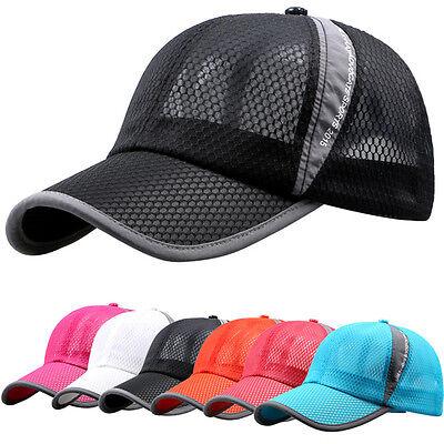 Men Women Outdoor Sport Baseball Mesh Hat Running Visor Quick-drying Trucker  Cap  efa059fb9af