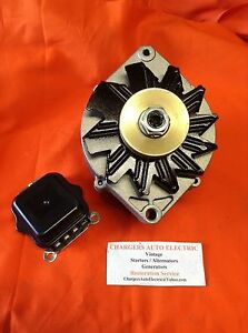 1964-72  CHEVY CHEVELLE 135 AMP HIGH OUTPUT ALTERNATOR POWDER COATED RED