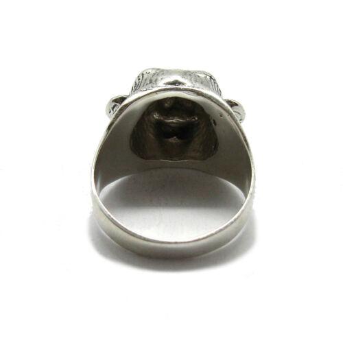 Genuine sterling silver biker ring solid hallmarked 925 Bear R001833 Empress