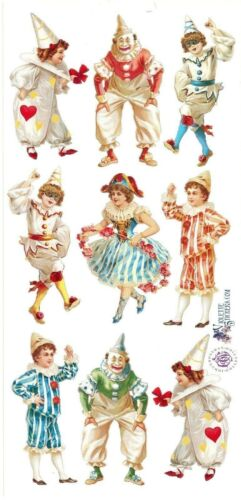 ~ Circus Clowns Costumes Male Female Dance Acting Craft Scrapbooking Stickers ~