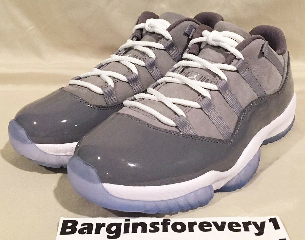 Air Jordan 11 Retro Low - Size 10 - Medium Grey/White-Gunsmoke - 528895-003