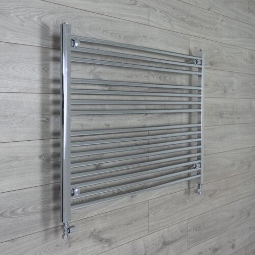 1200mm Wide Heated Towel Rail Radiator Chrome Straight Wide Bathroom Rails Rad