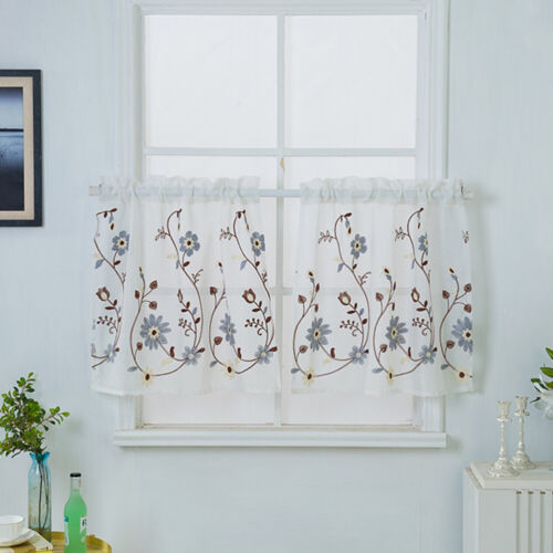 1pc Short Curtain Useful Delicate Half Curtain for Kitchen Window