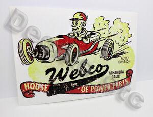 Webco-Speed-Shop-Distressed-Vintage-Style-Vinyl-DECAL-Car-STICKER-rat-rod
