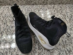 bf982c3a791 Under Armour UA Curry 4 Black Gold More Dimes 11.5 1298306-001 ...