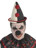 French Clown Hat Cap Black White Scary Adult Halloween Costume Accessory