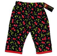Punk Rock Rockabilly Red Black Cherry Polka Dot Girl Kid Baby Toddler Pants
