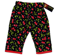 Punk Rock Rockabilly Red Black Cherry Polka Dot Girl Kid Baby Toddler Pants