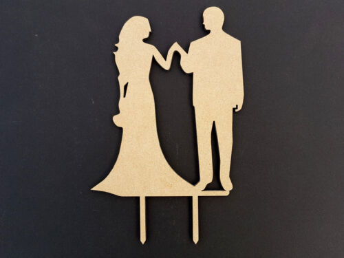 WEDDING CAKE TOPPER DESIGN 6 BRIDE /& GROOM 123mm x 150mm x 3mm