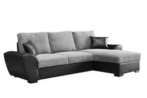 Image Is Loading Gianni Giani Corner Sofa Bed Black Grey Cobra