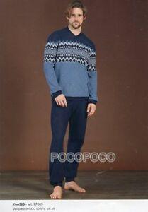 Pyjamas-Seraphin-Homme-Manches-Longues-Coton-Brosse-Vous-365-Art-77089